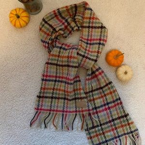 🌟COACH multi color houndstooth scarf